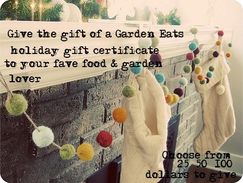 Garden Eats gift certificates