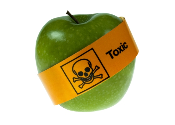 Pesticides toxic fruit