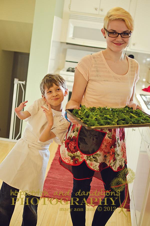 Garden Eats kale chips Hopscotch & Dandelions