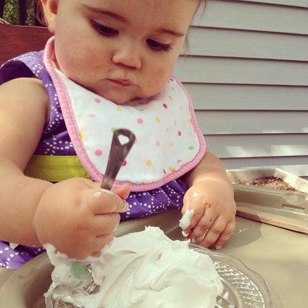 Garden Eats baby loves coconut whipped cream