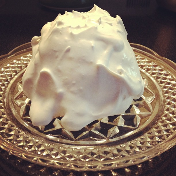 Garden Eats coconut whipped cream on GF cake