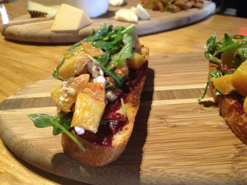 The Patio SD Roasted Beet Bruschetta Happy Hour