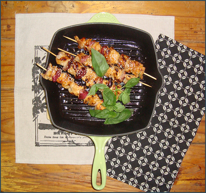 Chicken Skewers Add Some Butter Garden Eats Our Growing Edge