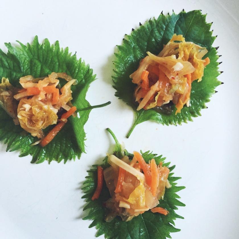 Garden Eats Kimchi Shiso Taco