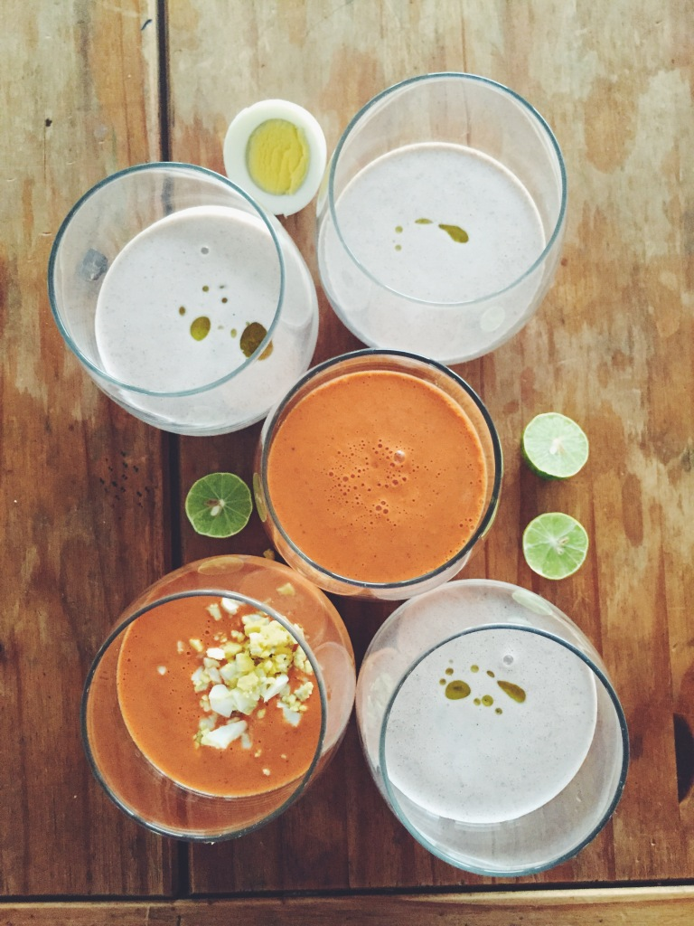 Garden Eats Salmorejo & Ajoblanco cold Spanish soup