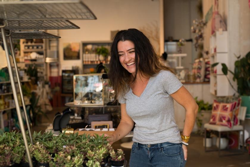 Christine Plants At Pigment
