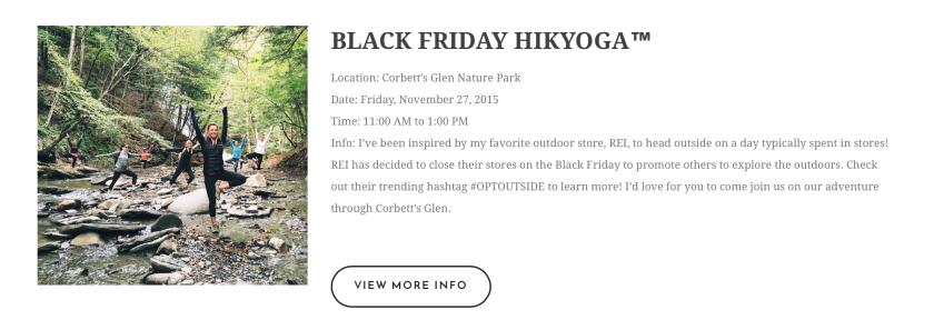 Garden Eats Black Friay HikYoga